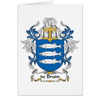 de Bruin Family Crest Card