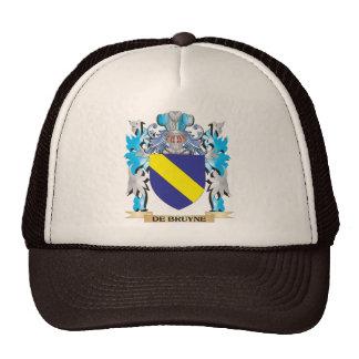 De-Bruyne escudo de armas - escudo de la familia Gorros Bordados