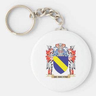 De-Bruyne escudo de armas - escudo de la familia Llavero Redondo Tipo Pin