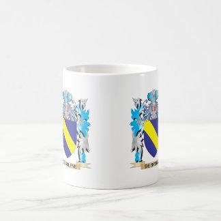 De-Bruyne escudo de armas - escudo de la familia Taza Básica Blanca