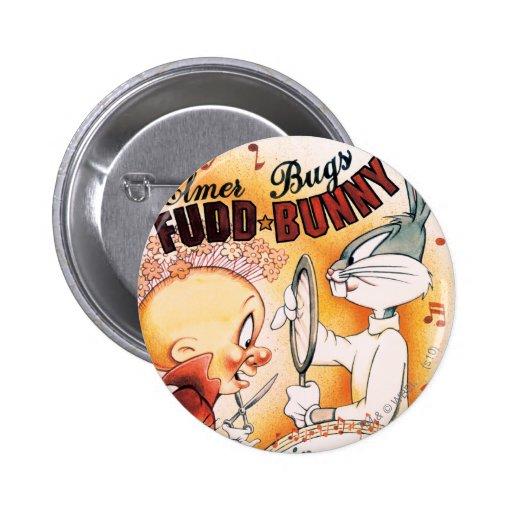 ™ de BUGS BUNNY y Musical de Elmer Fudd Pin Redondo 5 Cm
