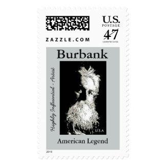De Burbank leyenda del americano del Sello Postal