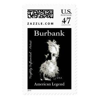 De Burbank leyenda del americano del Sellos Postales