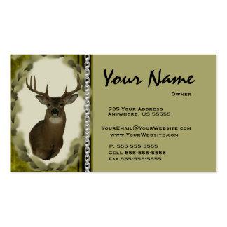 ~ de cadena Brown de las tarjetas de visita del Ta