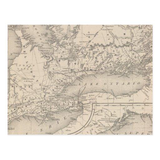 De Canadá parte superior al oeste Tarjeta Postal