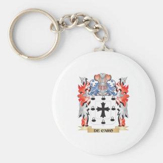 De-Caro escudo de armas - escudo de la familia Llavero Redondo Tipo Pin
