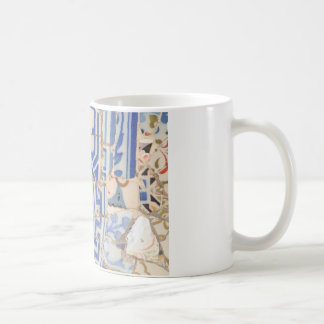 De cerámica azul taza clásica