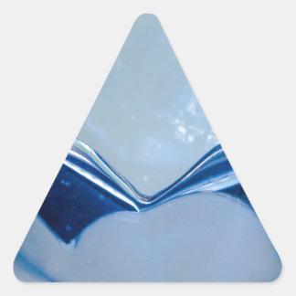de cerámica pegatina triangular
