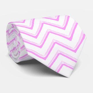 De Chevron rosa adaptable suavemente Corbatas