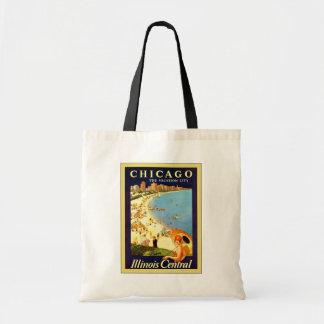 de Chicago el viaje del vintage del de la ciud Bolsa