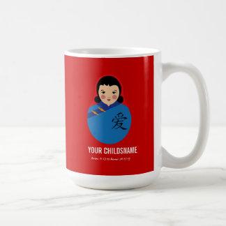 De China con el regalo de la adopción del chica de Tazas De Café