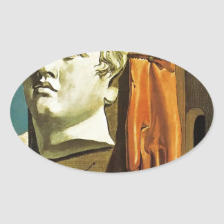 De Chirico Love Song Oval Sticker