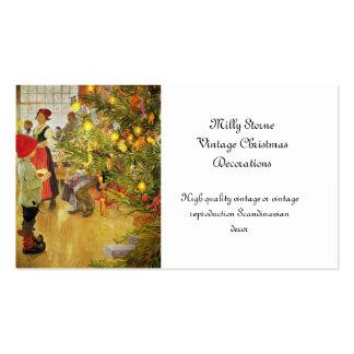 De Christmastime niño pequeño y Julgran otra vez Plantilla De Tarjeta De Negocio
