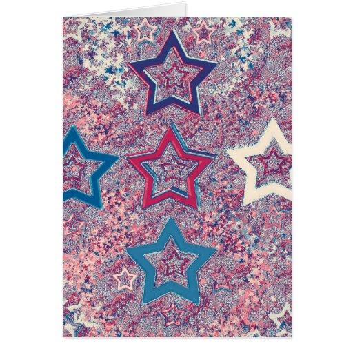 de cinco estrellas - un diverso estilo tarjeta de felicitación