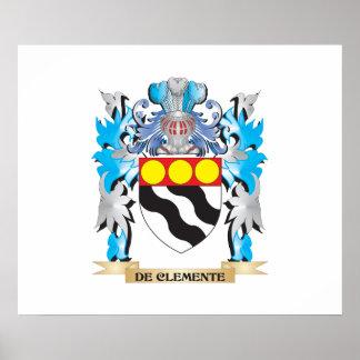 De-Clemente escudo de armas - escudo de la familia Impresiones