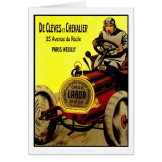 De Cleves Et Chevalier ~ Vintage Automobile Ad Card