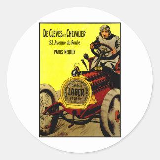 De Cleves Et Chevalier ~ Vintage Automobile Ad Sticker