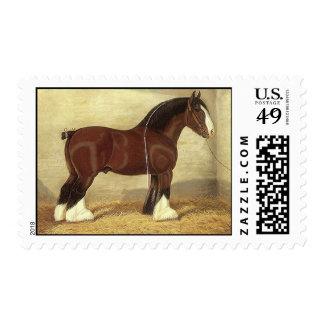 ~ de Clydesdale del caballo de proyecto de los Estampilla