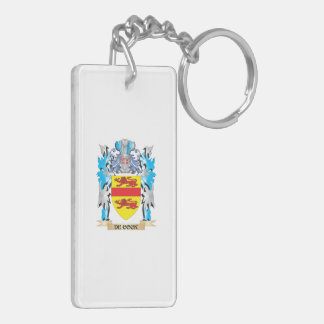 De-Cock Coat of Arms - Family Crest Double-Sided Rectangular Acrylic Keychain