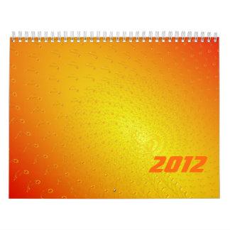 De color amarillo oscuro calendarios