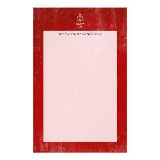 De color rojo oscuro del vintage apenada guardan c  papeleria