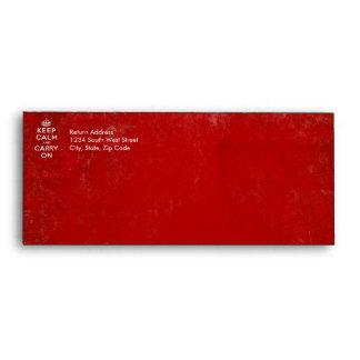 De color rojo oscuro del vintage apenada guardan c sobre