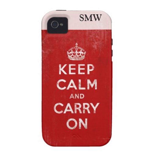 De color rojo oscuro del vintage apenada guardan Case-Mate iPhone 4 funda