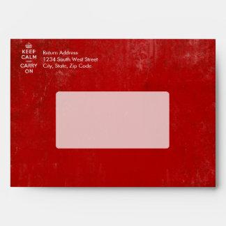 De color rojo oscuro del vintage apenada guardan sobres