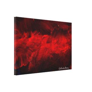 De color rojo oscuro impresiones de lienzo