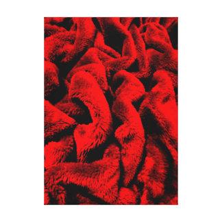 De color rojo oscuro lienzo envuelto para galerías
