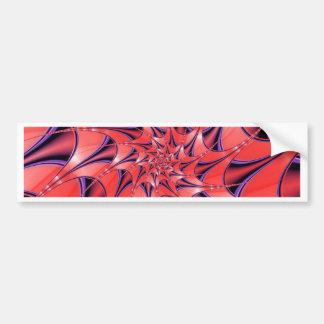 De color rosa oscuro abstracto pegatina para auto