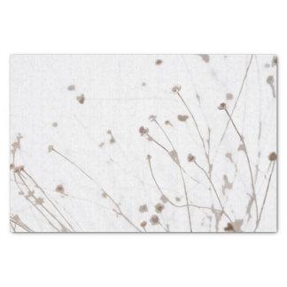 De color topo blanco sutil gráfico secado extracto papel de seda pequeño
