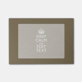 De color topo guarde la calma y su texto notas post-it®