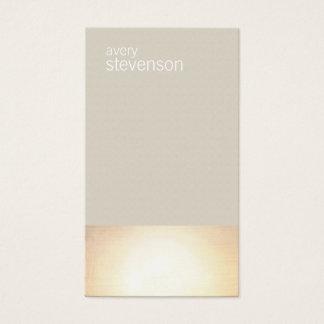 De color topo minimalista moderno del resplandor tarjetas de visita