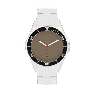 De color topo relojes de pulsera