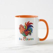 De Colores Rooster Gallo 11 oz Ringer Mug