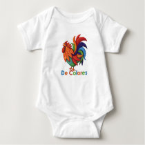 De Colores Rooster Gallo Baby Jersey Bodysuit