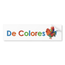 De Colores Rooster Gallo Bumper Sticker