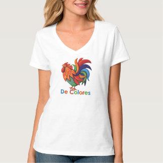 De Colores Rooster Women's Hanes V-Neck T-Shirt