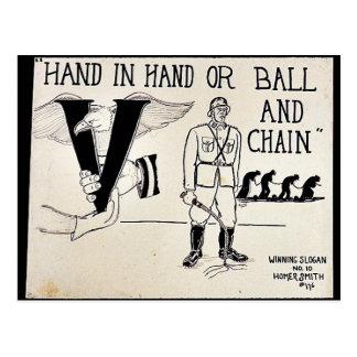 De común acuerdo o bola y cadena tarjeta postal