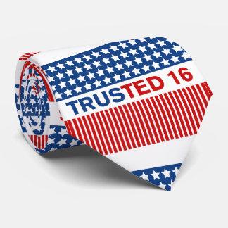 De confianza - Ted Cruz para el presidente 2016 Corbata Personalizada