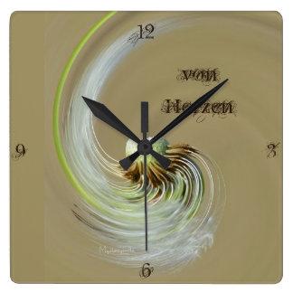 """""""de corazones"""" by mysteryella reloj cuadrado"""