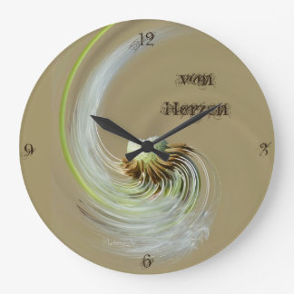 """de corazones"" by mysteryella reloj redondo grande"