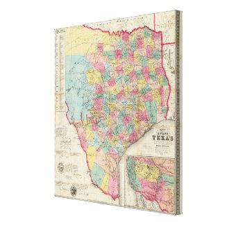 De Cordova's Map of Texas Canvas Print