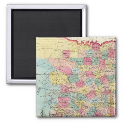 De Cordova's Map of Texas Fridge Magnet