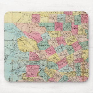 De Cordova's Map of Texas Mouse Pad