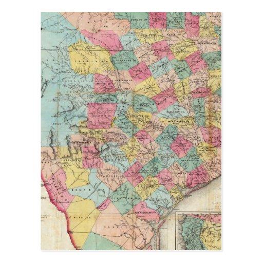 De Cordova's Map of Texas Postcard