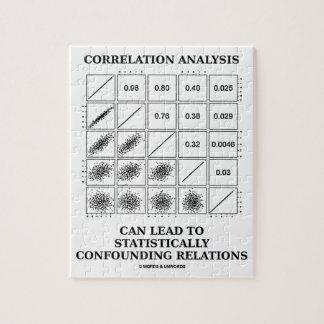De correlación del análisis de la ventaja relacion rompecabezas