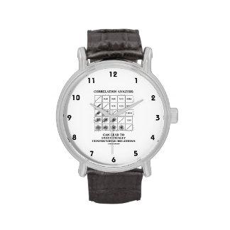 De correlación del análisis de la ventaja relacion relojes de pulsera