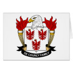 De Courcy Family Crest Greeting Card